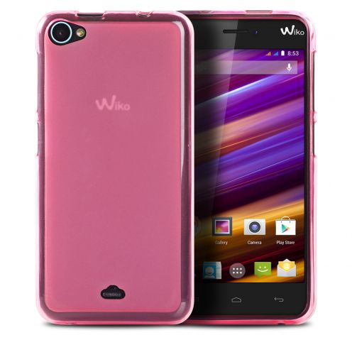 Coque Wiko Jimmy Frozen Ice Extra Fine Rose