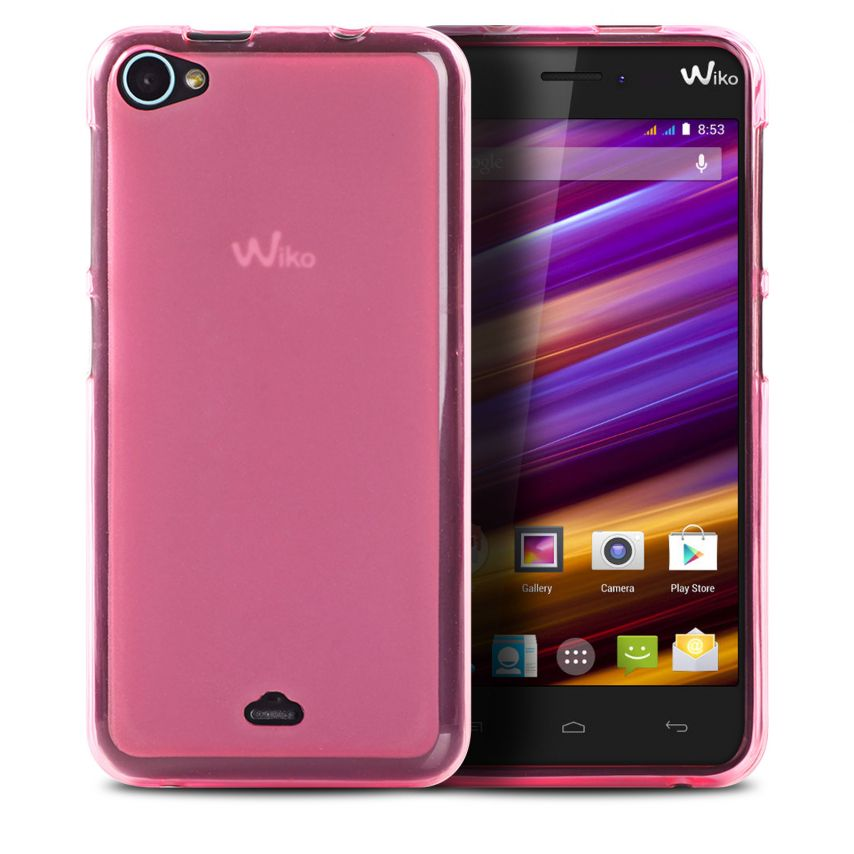 Visuel unique de Coque Wiko Jimmy Frozen Ice Extra Fine Rose