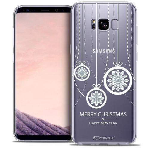 Coque Crystal Gel Samsung Galaxy S8 (G950) Extra Fine Noël 2016 - Christmas Balls