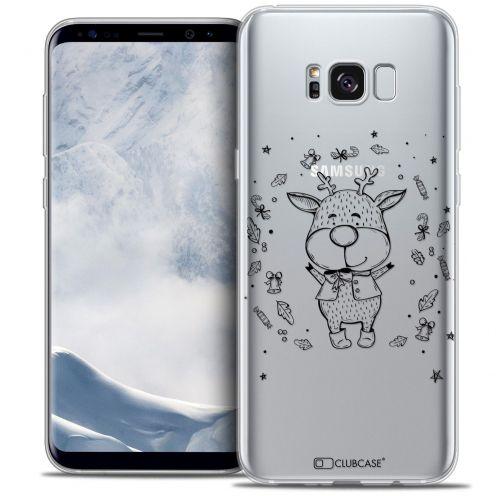Coque Crystal Gel Samsung Galaxy S8 (G950) Extra Fine Noël 2016 - Sketchy Cerf