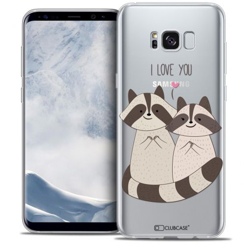 Coque Crystal Gel Samsung Galaxy S8 (G950) Extra Fine Sweetie - Racoon Love