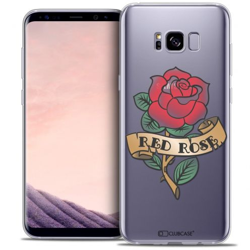 Coque Crystal Gel Samsung Galaxy S8 (G950) Extra Fine Tatoo Lover - Red Rose