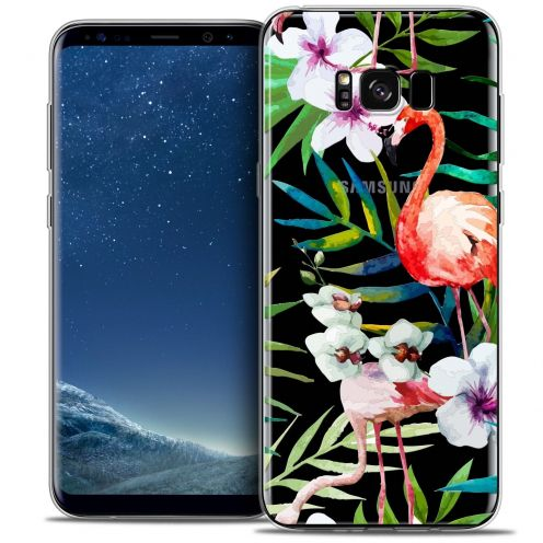 Coque Crystal Gel Samsung Galaxy S8 (G950) Extra Fine Watercolor - Tropical Flamingo