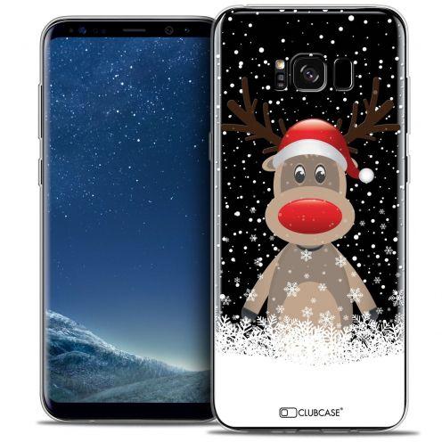 Coque Crystal Gel Samsung Galaxy S8+/ Plus (G955) Extra Fine Noël 2016 - Cerf au Bonnet