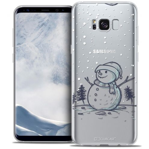 Coque Crystal Gel Samsung Galaxy S8+/ Plus (G955) Extra Fine Noël 2016 - Bonhomme de Neige