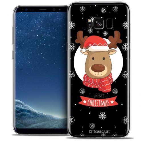 Coque Crystal Gel Samsung Galaxy S8+/ Plus (G955) Extra Fine Noël 2016 - Cerf à Echarpe