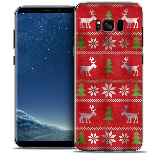 Coque Crystal Gel Samsung Galaxy S8+/ Plus (G955) Extra Fine Noël 2016 - Couture Rouge
