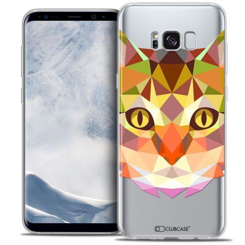 Coque Crystal Gel Samsung Galaxy S8+/ Plus (G955) Extra Fine Polygon Animals - Chat