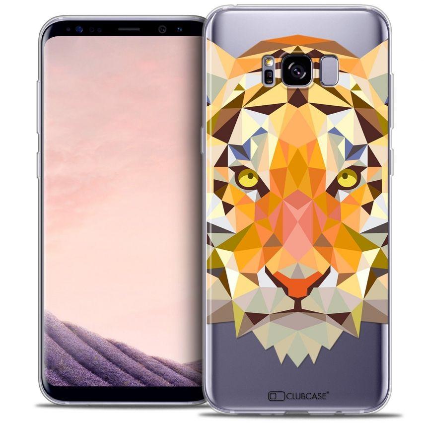 Coque Crystal Gel Samsung Galaxy S8+/ Plus (G955) Extra Fine Polygon Animals - Tigre