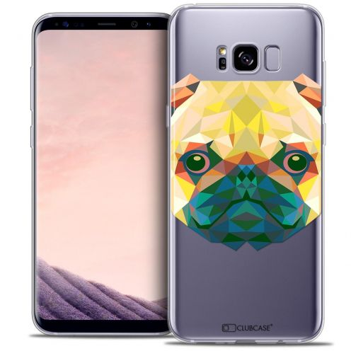 Coque Crystal Gel Samsung Galaxy S8+/ Plus (G955) Extra Fine Polygon Animals - Chien