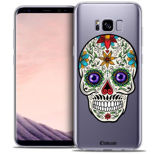 Coque Crystal Gel Samsung Galaxy S8+/ Plus (G955) Extra Fine Skull - Maria's Flower