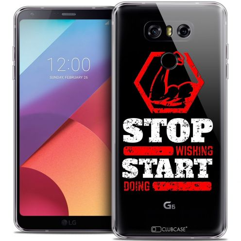 Coque Crystal Gel LG G6 Extra Fine Quote - Start Doing