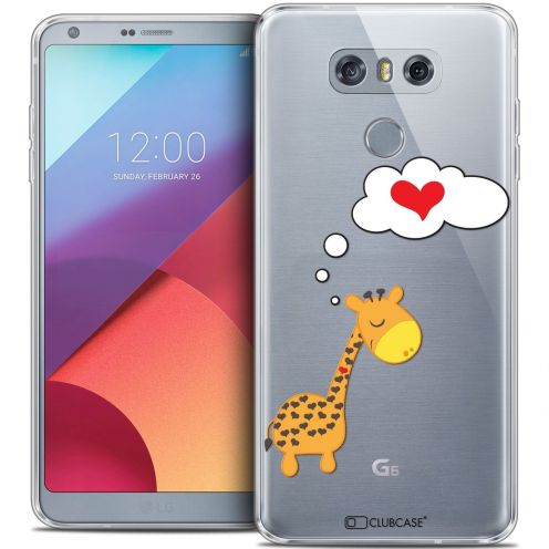 Coque Crystal Gel LG G6 Extra Fine Love - Girafe Amoureuse