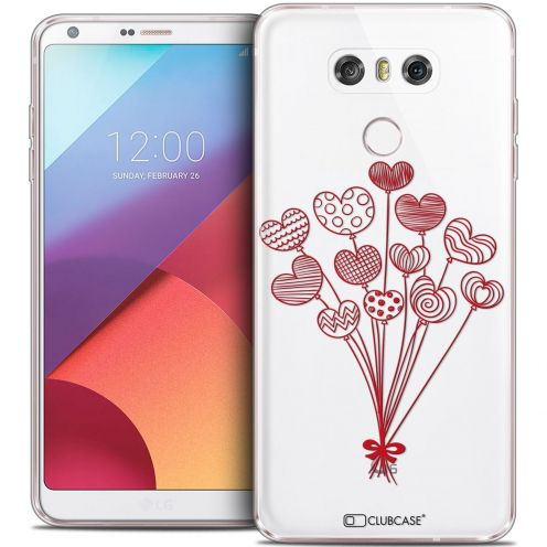 Coque Crystal Gel LG G6 Extra Fine Love - Ballons d'amour
