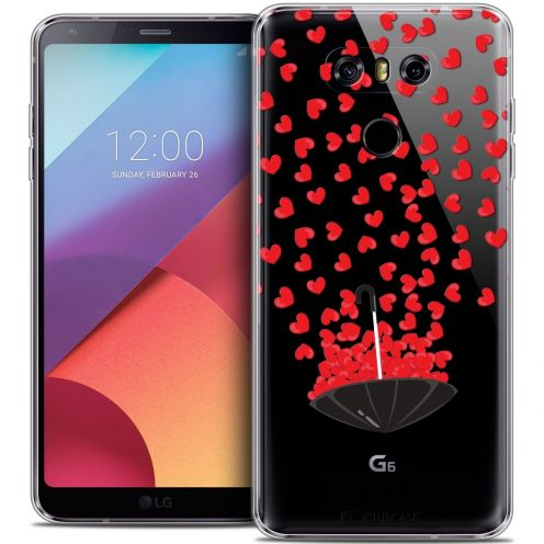 Coque Crystal Gel LG G6 Extra Fine Love - Parapluie d'Amour
