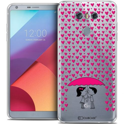 Coque Crystal Gel LG G6 Extra Fine Love - Pluie d'Amour