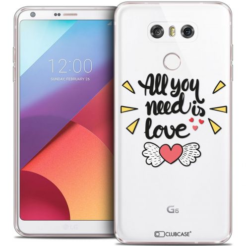 Coque Crystal Gel LG G6 Extra Fine Love - All U Need Is