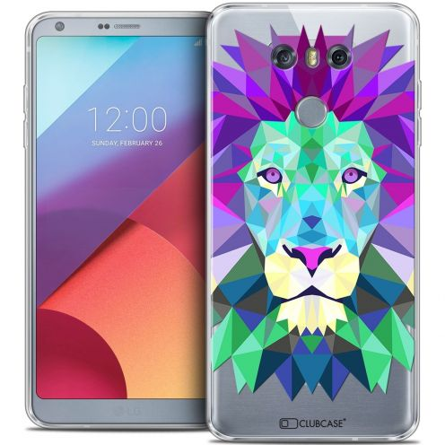 Coque Crystal Gel LG G6 Extra Fine Polygon Animals - Lion