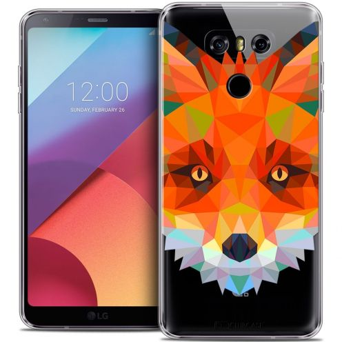 Coque Crystal Gel LG G6 Extra Fine Polygon Animals - Renard