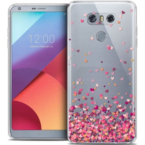 Coque Crystal Gel LG G6 Extra Fine Sweetie - Heart Flakes