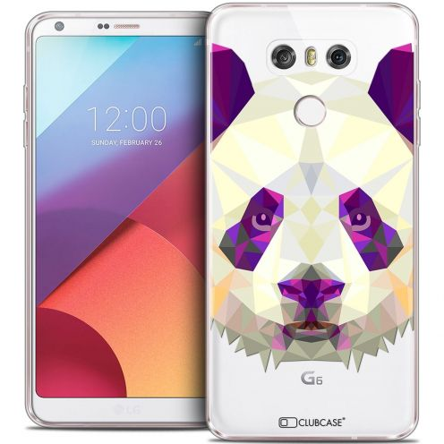 Coque Crystal Gel LG G6 Extra Fine Polygon Animals - Panda