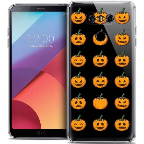 Coque Crystal Gel LG G6 Extra Fine Halloween - Smiley Citrouille
