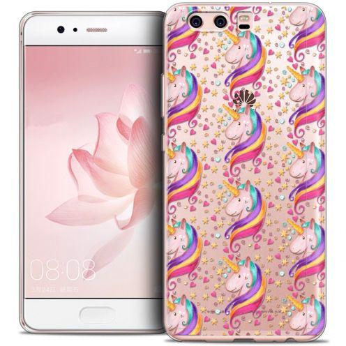 Coque Crystal Gel Huawei P10 Extra Fine Fantasia - Licorne Etoilée