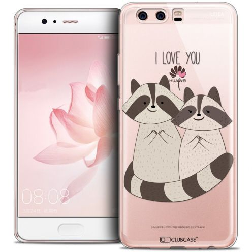 Coque Crystal Gel Huawei P10 Extra Fine Sweetie - Racoon Love