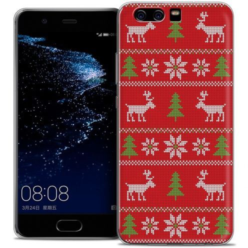 Coque Crystal Gel Huawei P10 Extra Fine Noël 2016 - Couture Rouge