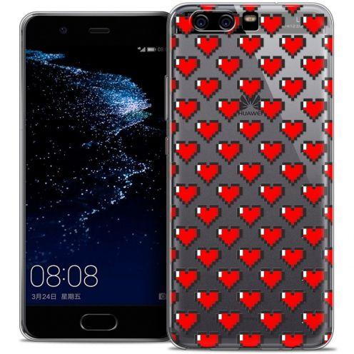 Coque Crystal Gel Huawei P10 Extra Fine Love - Pixel Art