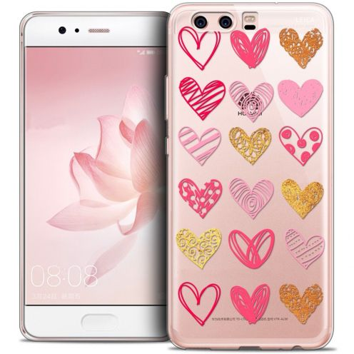 Coque Crystal Gel Huawei P10 Extra Fine Love - Doodle