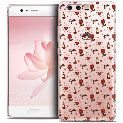 Coque Crystal Gel Huawei P10 Extra Fine Love - Bougies et Roses