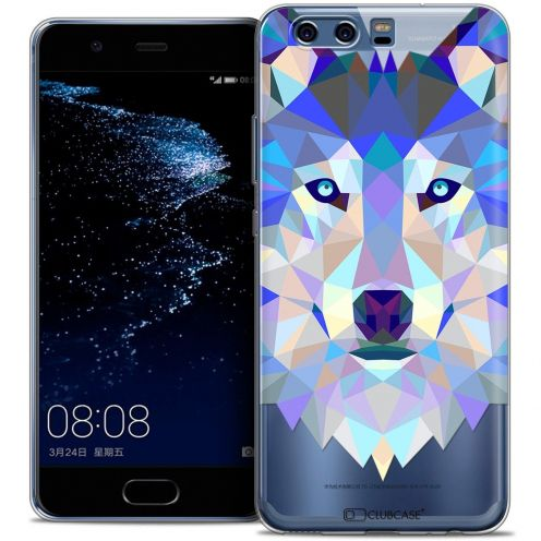 Coque Crystal Gel Huawei P10 Extra Fine Polygon Animals - Loup