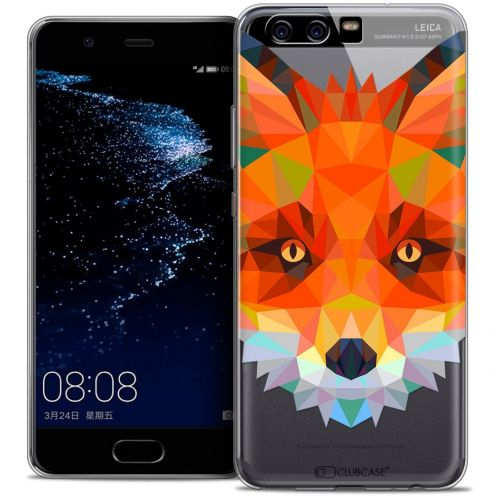 Coque Crystal Gel Huawei P10 Extra Fine Polygon Animals - Renard