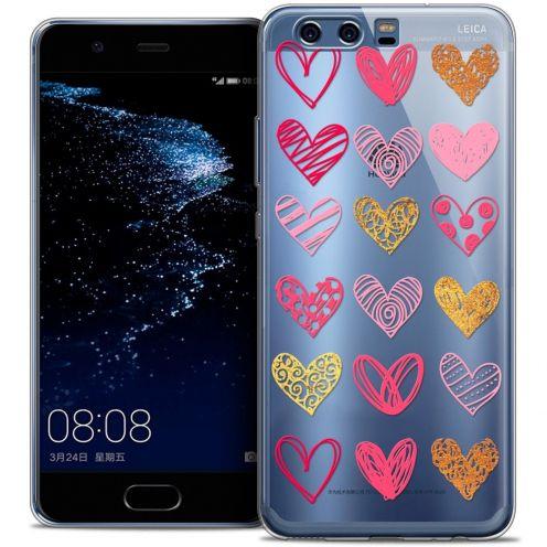 Coque Crystal Gel Huawei P10 Extra Fine Sweetie - Doodling Hearts