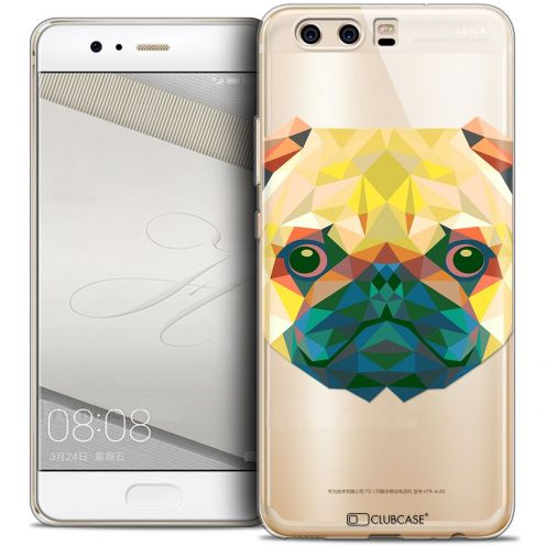 Coque Crystal Gel Huawei P10 Extra Fine Polygon Animals - Chien