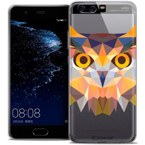 Coque Crystal Gel Huawei P10 Extra Fine Polygon Animals - Hibou