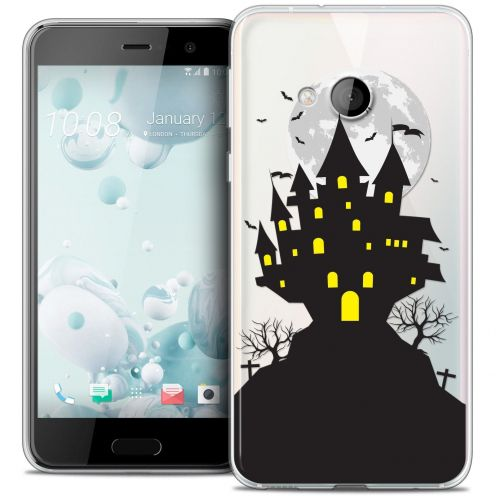 Coque Crystal Gel HTC U Play Extra Fine Halloween - Castle Scream