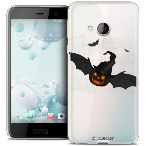 Coque Crystal Gel HTC U Play Extra Fine Halloween - Chauve Citrouille