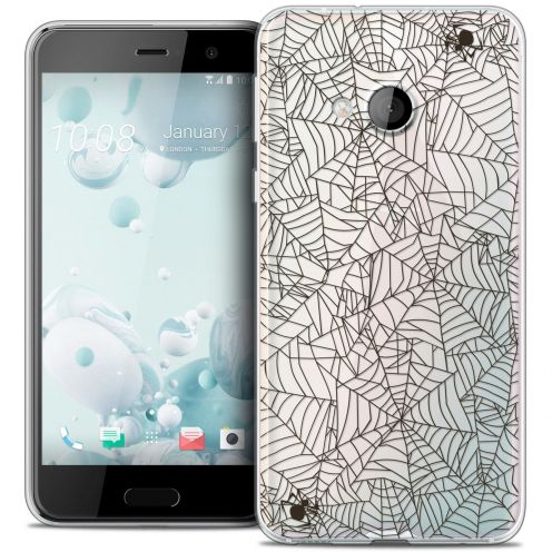 Coque Crystal Gel HTC U Play Extra Fine Halloween - Spooky Spider