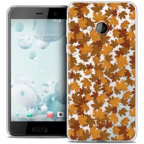 Coque Crystal Gel HTC U Play Extra Fine Autumn 16 - Feuilles