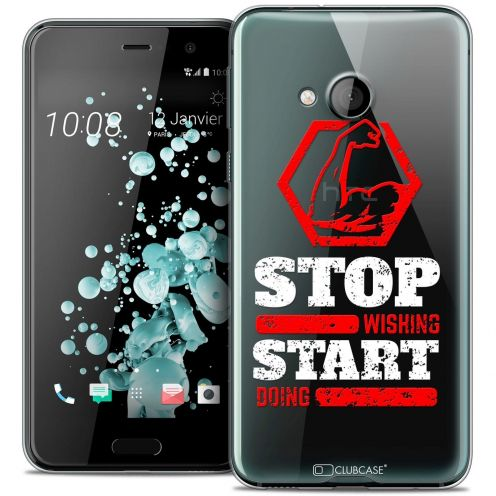 Coque Crystal Gel HTC U Play Extra Fine Quote - Start Doing