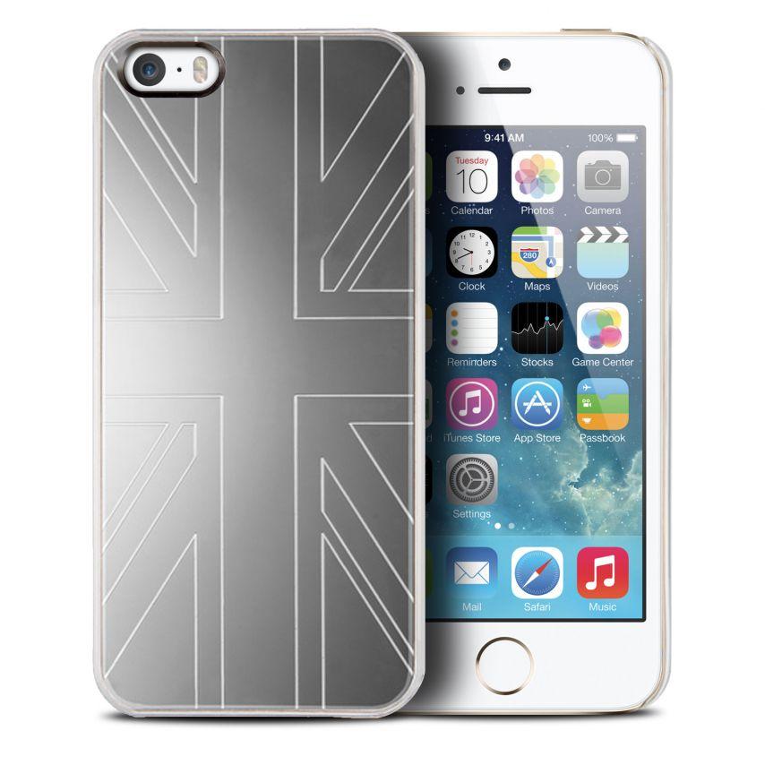 Vue complémentaire de Coque QDOS Smoothies Metallics Mirror UK pour iPhone 5/5S