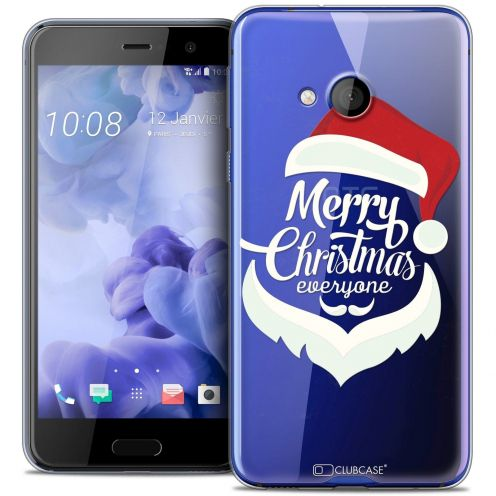 Coque Crystal Gel HTC U Play Extra Fine Noël 2016 - Merry Everyone