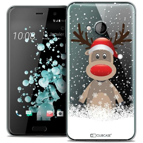 Coque Crystal Gel HTC U Play Extra Fine Noël 2016 - Cerf au Bonnet
