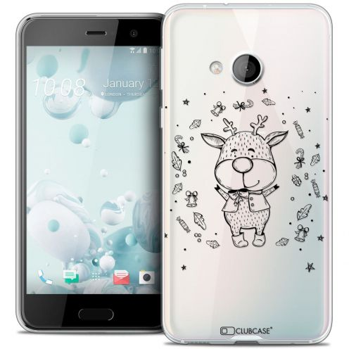Coque Crystal Gel HTC U Play Extra Fine Noël 2016 - Sketchy Cerf