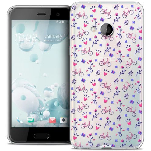 Coque Crystal Gel HTC U Play Extra Fine Love - Bicycle