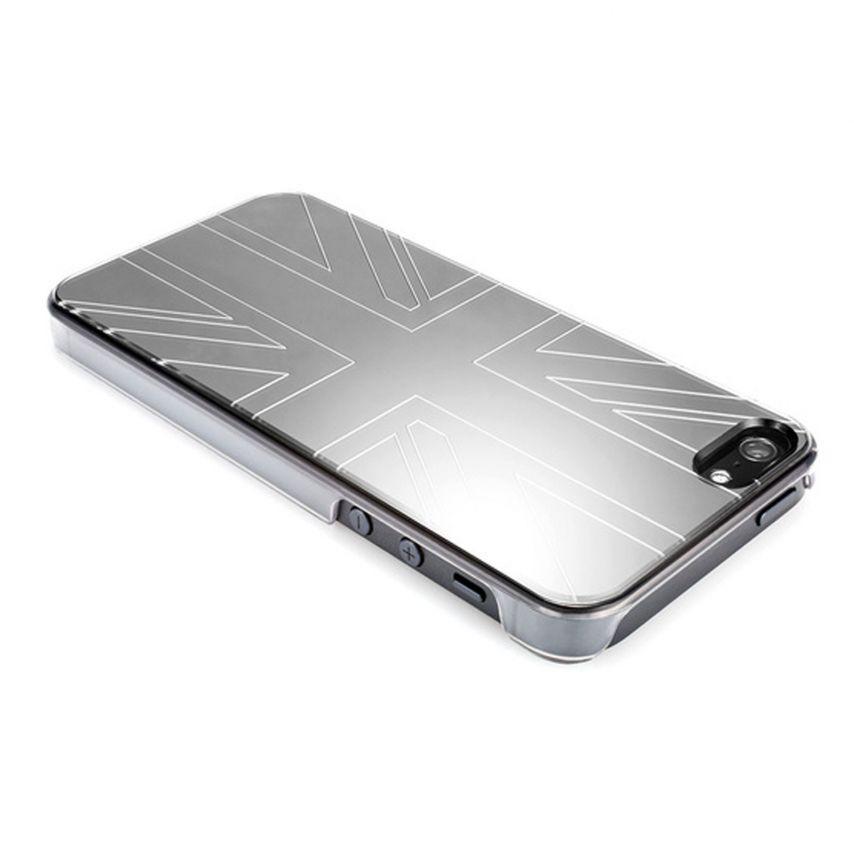 Vue portée de Coque QDOS Smoothies Metallics Mirror UK pour iPhone 5/5S