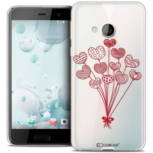 Coque Crystal Gel HTC U Play Extra Fine Love - Ballons d'amour