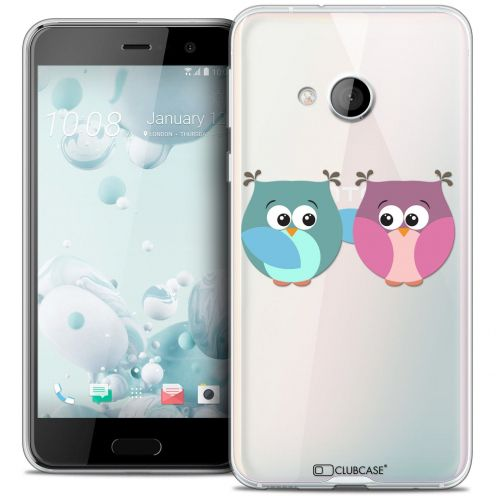 Coque Crystal Gel HTC U Play Extra Fine Love - Hibous à deux